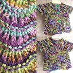 Lily Ripple Infant Cardigan Free Knitting Pattern