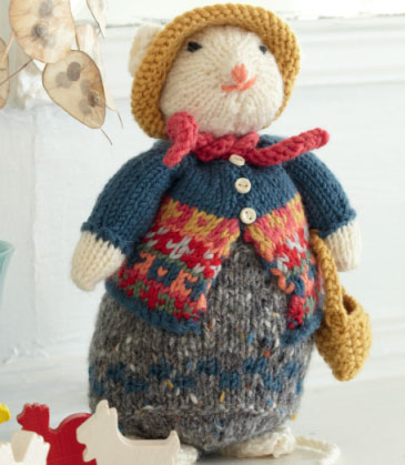 Free Knitting Patterns Tiny Toys : Little Miss Mouse Free Toy Knitting Pattern ? Knitting Bee