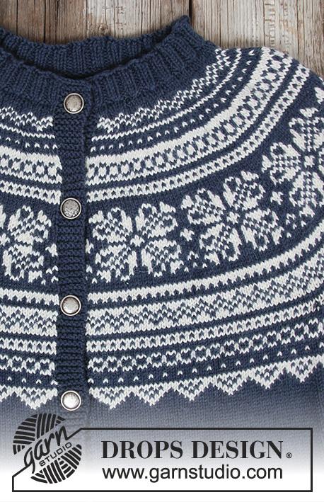 Lofoten Jacket Free Knitting Pattern, fair isle knit pattern