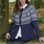 Lofoten Jacket Free Knitting Pattern, fair isle knit pattern