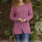 Lotus Jacket Free Knitting Pattern