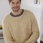 Man's Textured Pullover Free Knitting Pattern