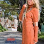 Marmalada Twin Set Dress and Sleeves Free Knitting Pattern. Free dress knitting pattern download.