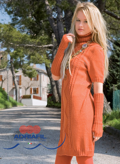 Marmalada Twin Set Dress and Sleeves Free Knitting Pattern. Free dress knitting pattern download.