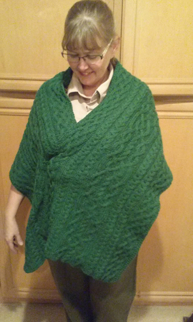 Mary's Mother in Law Shawl Free Cable Knitting Pattern