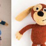 Free dog knitting pattern, animal knit pattern