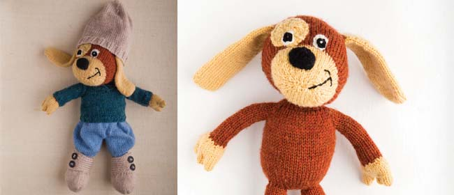 Free dog knitting pattern, animal knit pattern
