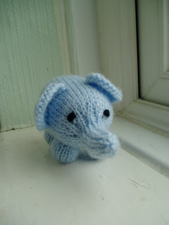 Mini Elephant Free Animal Toy Knitting Pattern