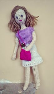 Mrs Knitted Doll Free Knitting Pattern