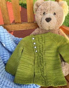 Oilve You Too Baby Cardigan Free Knitting Pattern