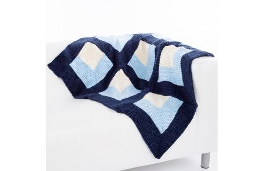 Op Art Throw & Pillow Free Knitting Pattern