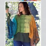 Paint Feather and Fan Poncho Free Knitting Pattern