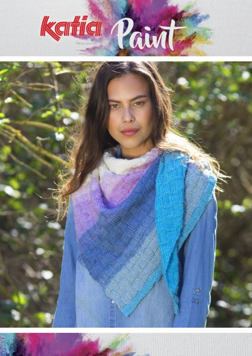 Paint Triangular Scarf Free Knit Pattern
