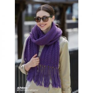 Patons Knitting Patterns for Women scarf