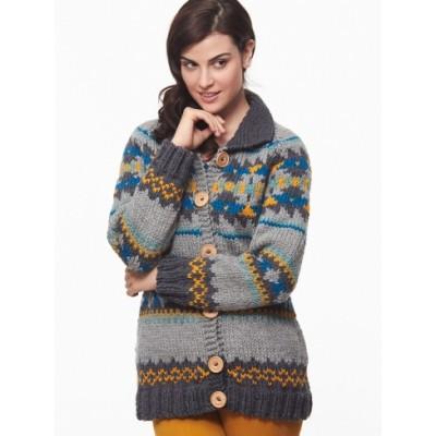 Patons Cowichan Style Raglan Cardigan Free Knitting Pattern