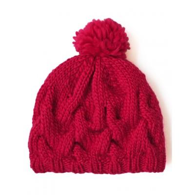 Patons Cushy Cable Hat Free Knitting Pattern
