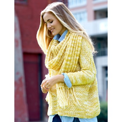 Patons Ease Pullover Free Knitting Pattern