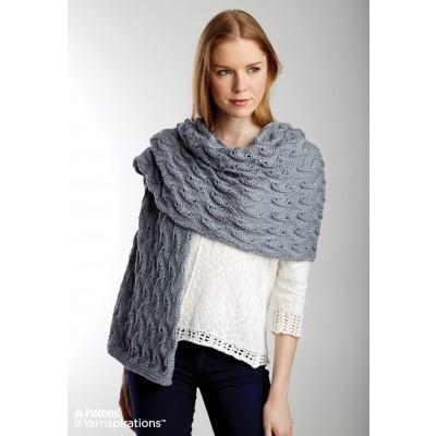 Patons Elegant Lace Shawl Free Knitting Pattern