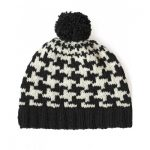 Patons Houndstooth Hat Free Knitting Pattern