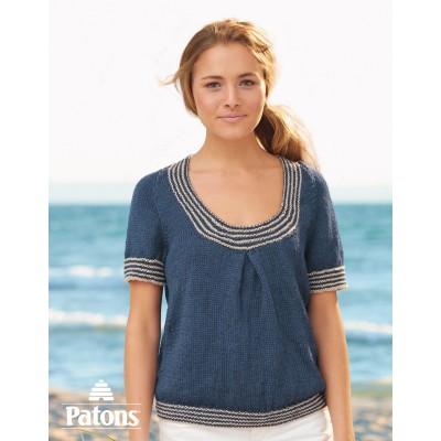 Patons Nautical Tee Women's Tee Free Knit Pattern