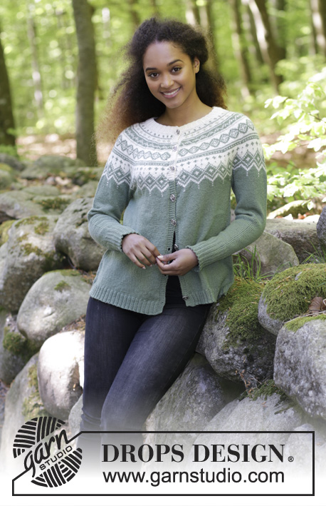 Perles du Nord Jacket Free Knitting Pattern