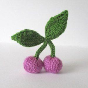 Pink Cherries Free Knitting Pattern