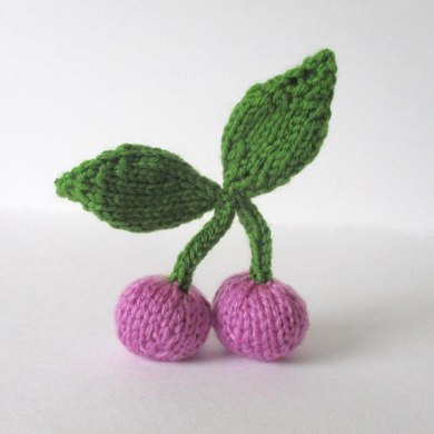 Pink Cherries Free Knitting Pattern