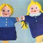Puppet Twins Doll Free Knitting Pattern