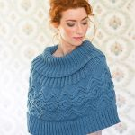 River Free Cable Poncho Knitting Pattern