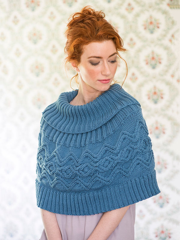 Knit poncho strip