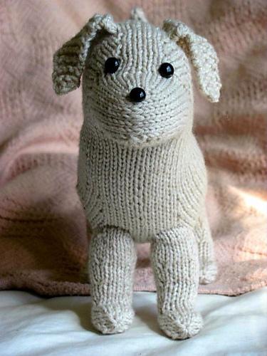 Rufus the Lab Puppy Free Knitting Pattern