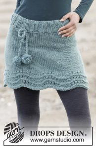 Sea Foam Miniskirt Free Women's Knitting Pattern