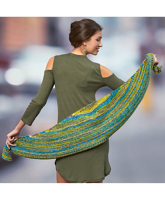 Simple Crescent Shawl Free Knitting Pattern