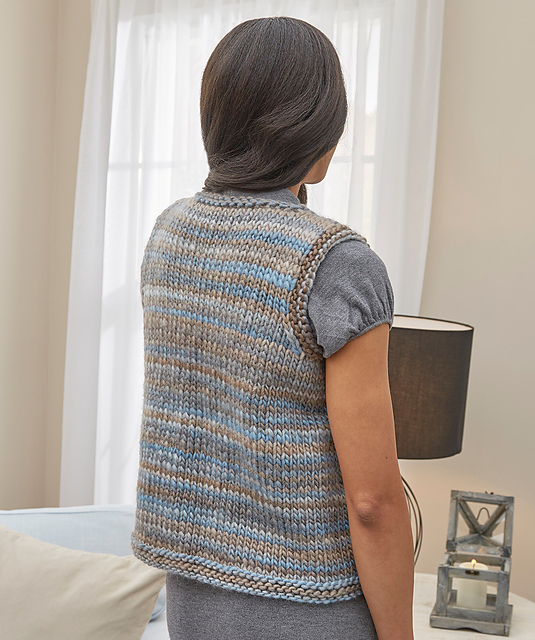 Vest Knitting Pattern Free Easy : Simply styled vest easy free knitting pattern bee