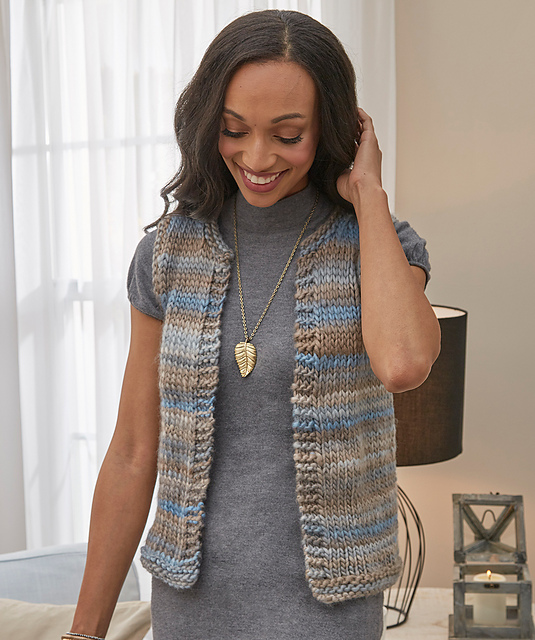 Simply Styled Vest Easy Free Knitting Pattern ⋆ Knitting Bee