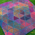 Six Pedal Blanket Free Knitting Pattern