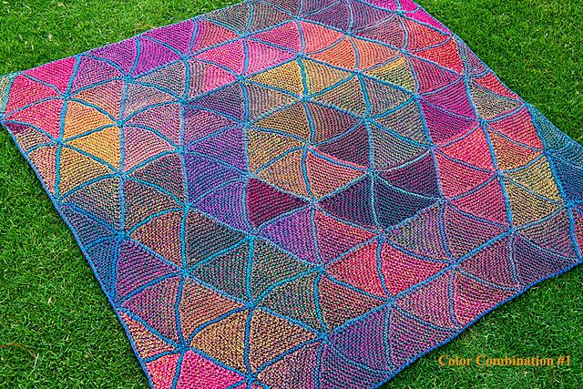 Six Pedal Blanket Free Knitting Pattern