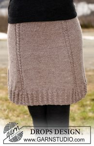 Knit Mini Skirt Patterns Free with cables