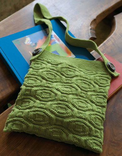 Skuld Textured Easy Shoulder Bag Free Knitting Pattern