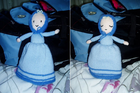 Sleepy Topsy Turvy Doll Free Knitting Pattern