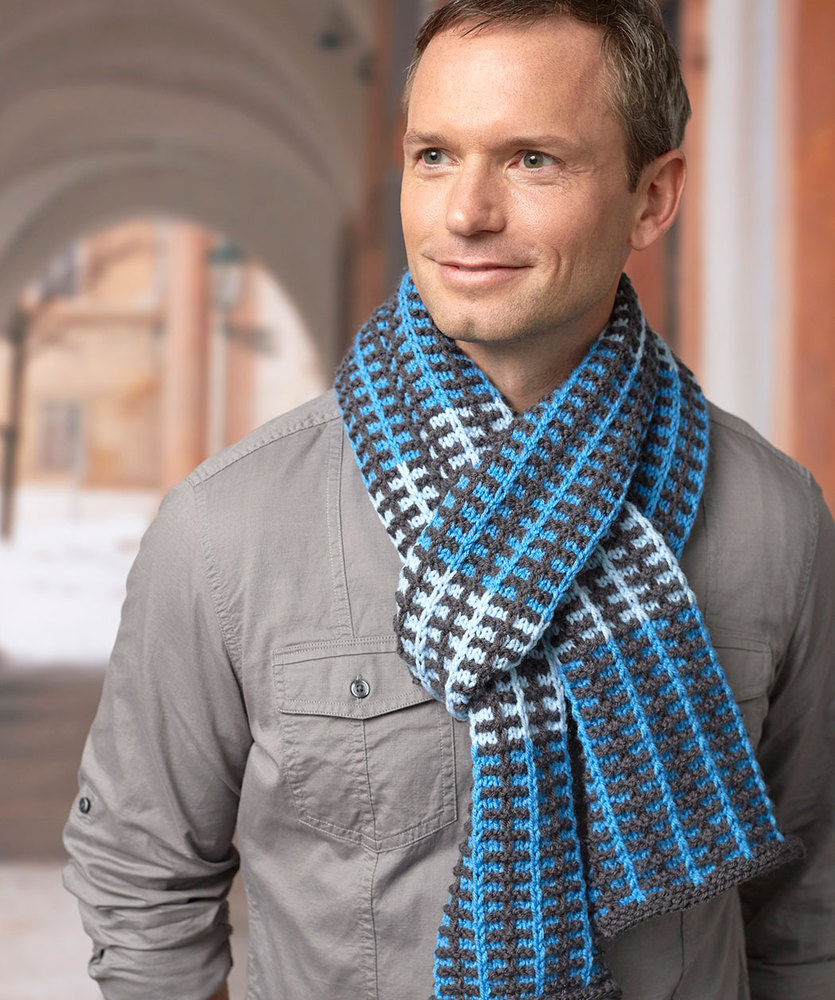Slipped Stripes Scarf Free Men\'s Knitting Pattern ⋆ Knitting Bee