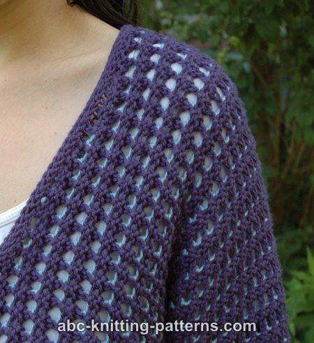 Subtle Mesh Summer Cardigan Free Knitting Pattern Knitting Bee