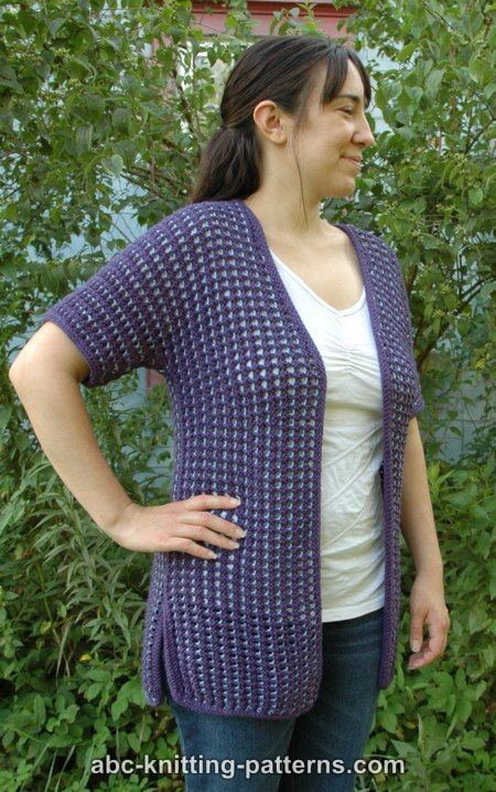 Subtle Mesh Summer Cardigan Free Knitting Pattern Knitting Bee