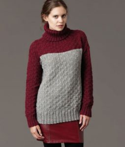 Textured Jumper Free Patons knitting pattern