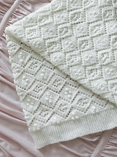 Thine Receiving Blanket Free Baby Knit Pattern ⋆ Knitting Bee