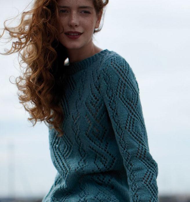 Venus Lace Top Sweater Free Knitting Pattern