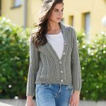 Very Textured Cardigan Free Knitting Pattern