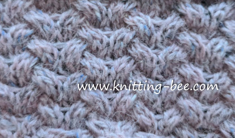 Knitting Bee Stitch Library : Woven Horseshoe Cable Free Knitting Stitch ? Knitting Bee