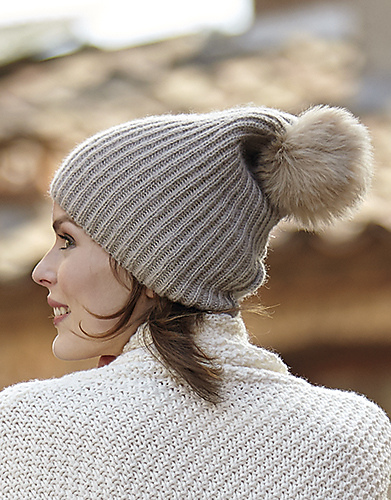 Woman's Ribbed Hat Free Knitting Pattern