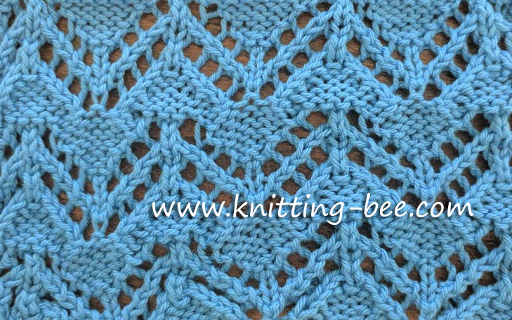 Knitting Bee Stitch Library : Zig Zag Eyelet Free Knitting Stitch ? Knitting Bee